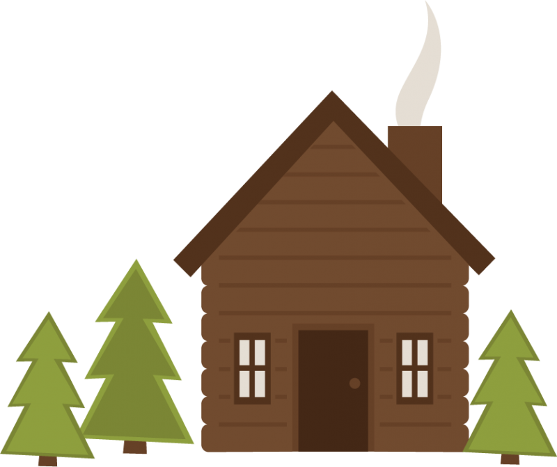 Svg cut file for. Cottage clipart camp cabin