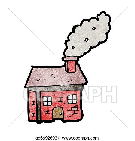 Eps vector cartoon with. Cottage clipart cottage industry