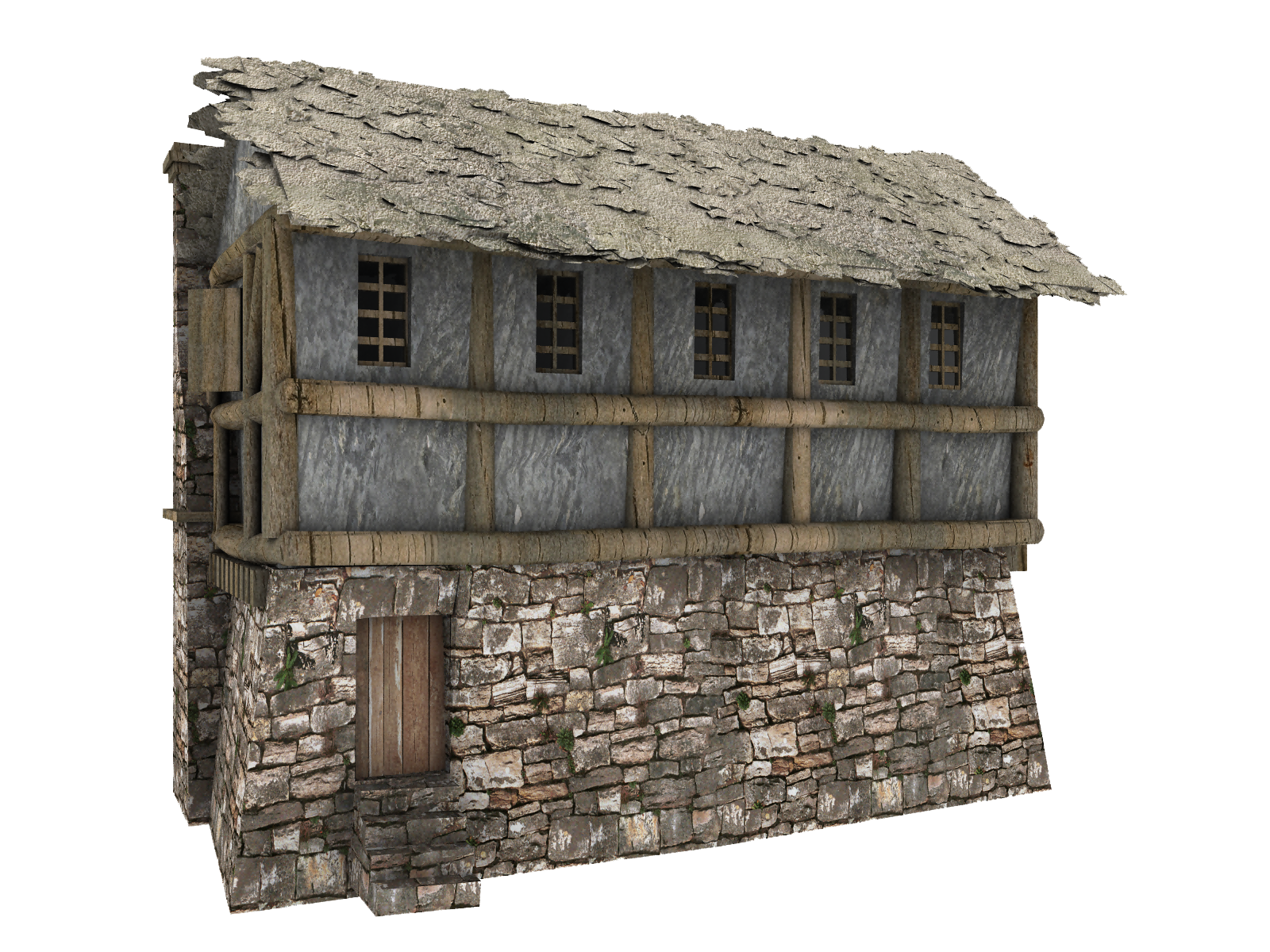 Cottage clipart cottage village. Medieval house transparent clipground