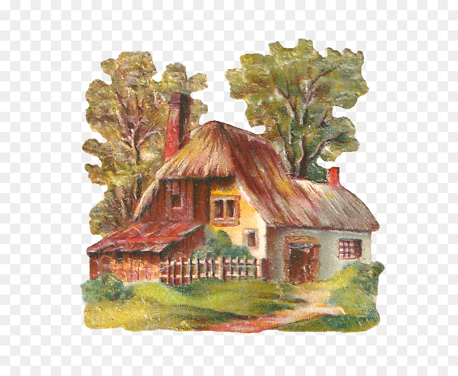 Painting cartoon png download. Cottage clipart english cottage
