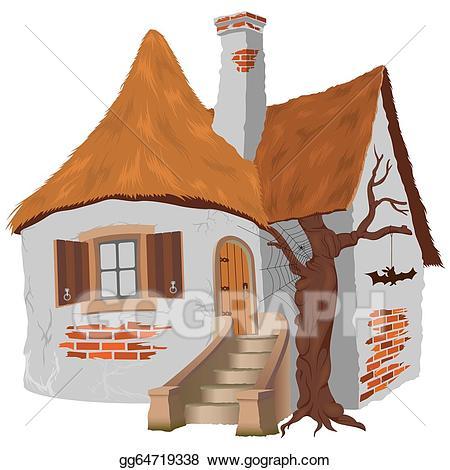 Eps vector fairy tale. Cottage clipart fairytale cottage