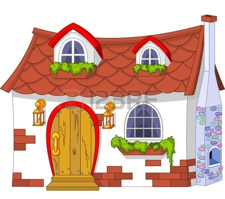 Illustration of a cute. Cottage clipart fairytale cottage