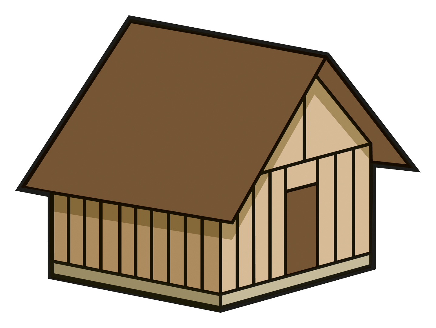 Oven house . Cottage clipart front garden