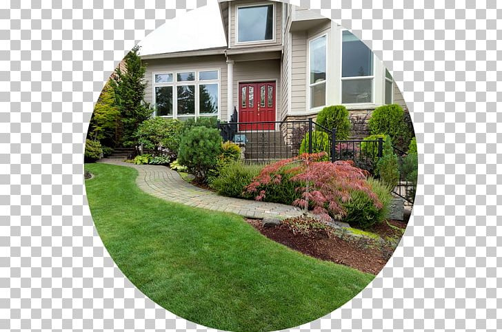 Lawn yard landscaping png. Cottage clipart front garden