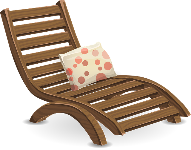Deckchair terapia y materiales. Furniture clipart tools