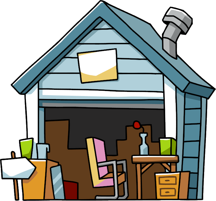Garage clipart messy. Image sale png scribblenauts