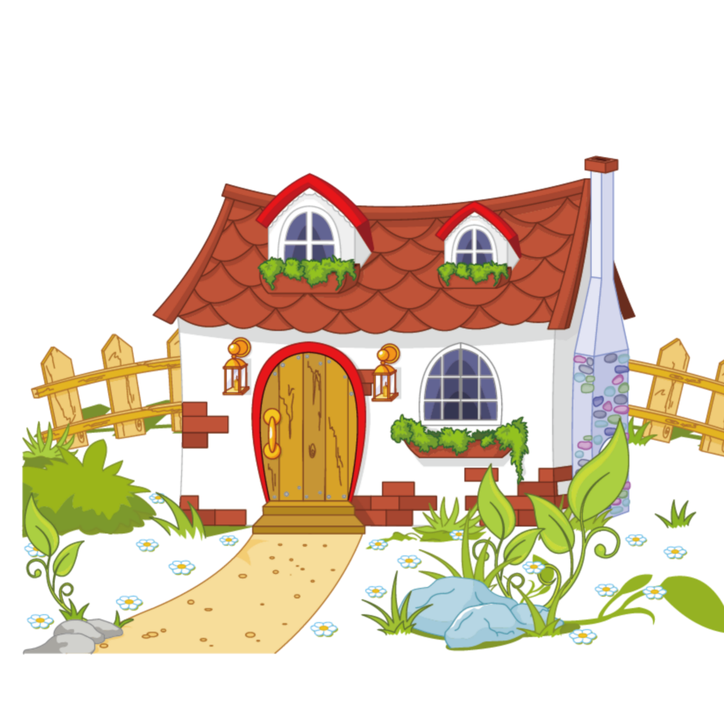 Cottage clipart hause. Ftestickers cartoon house cute