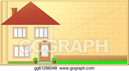 Stock illustration background with. Cottage clipart home visit