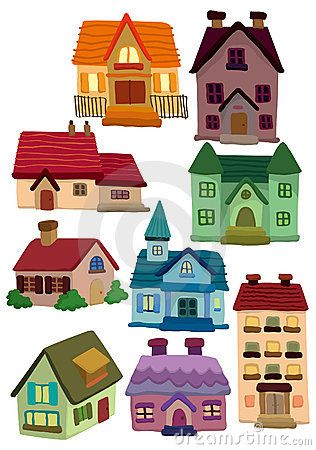 November artwork cartoon house. Cottage clipart home visit