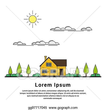 Cottage clipart house family. Vector stock clip art