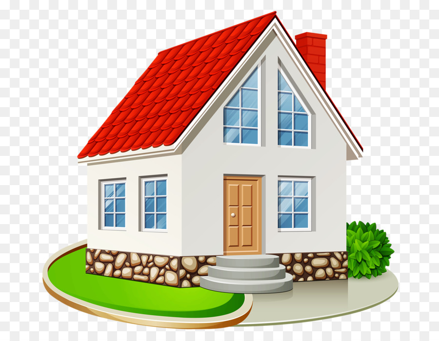 Real estate background home. Cottage clipart house lot