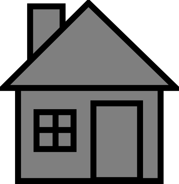 Grayhouse clip art at. Cottage clipart house lot