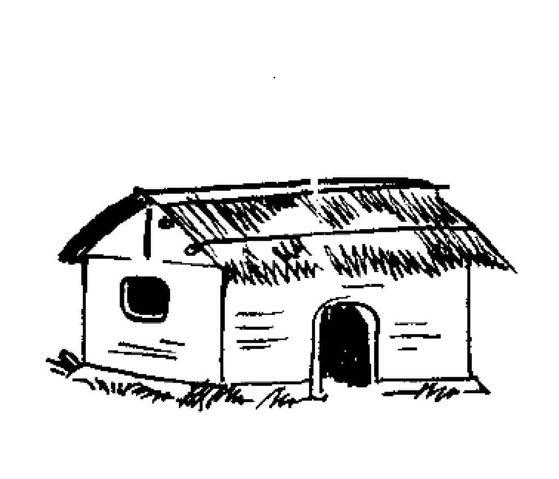 File indian election symbol. Cottage clipart hut