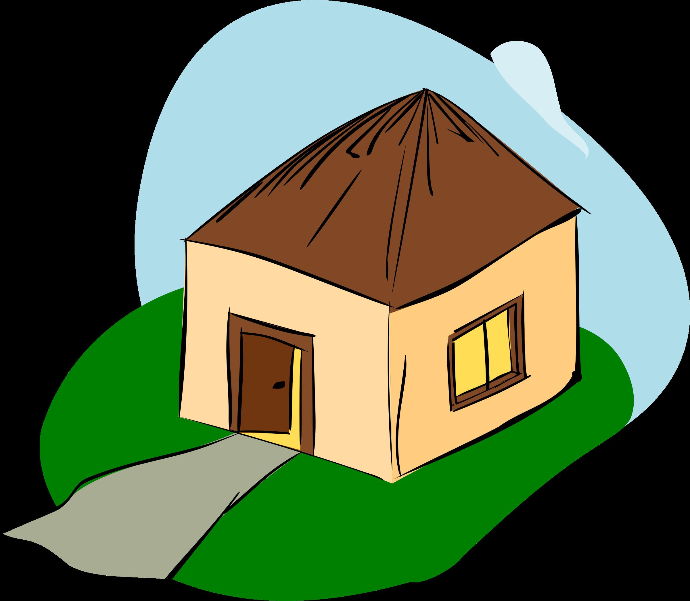 Shack hut pencil and. Explosion clipart cartoon house