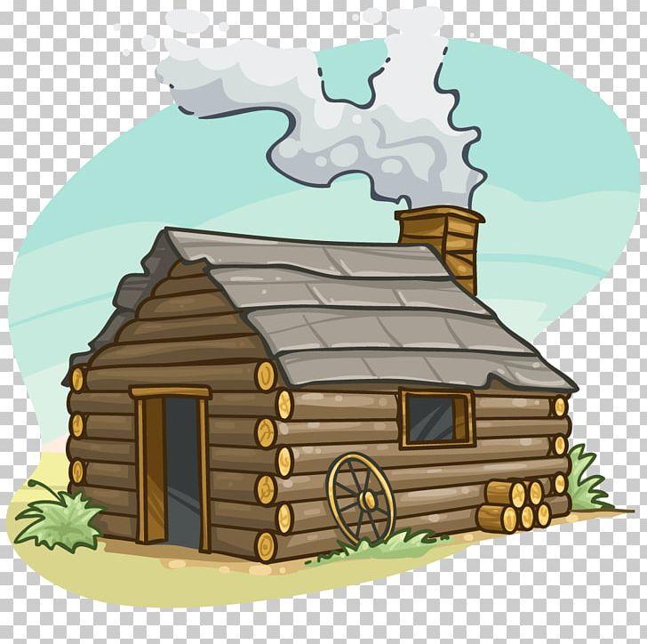 Cottage clipart hut. Log cabin cartoon png