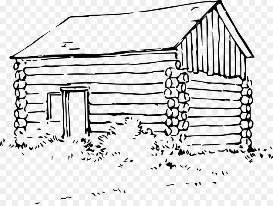 cottage clipart line art