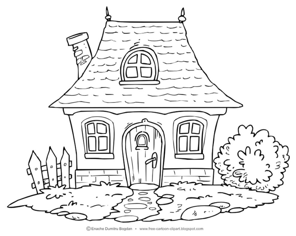 Free cliparts download clip. Cottage clipart line art