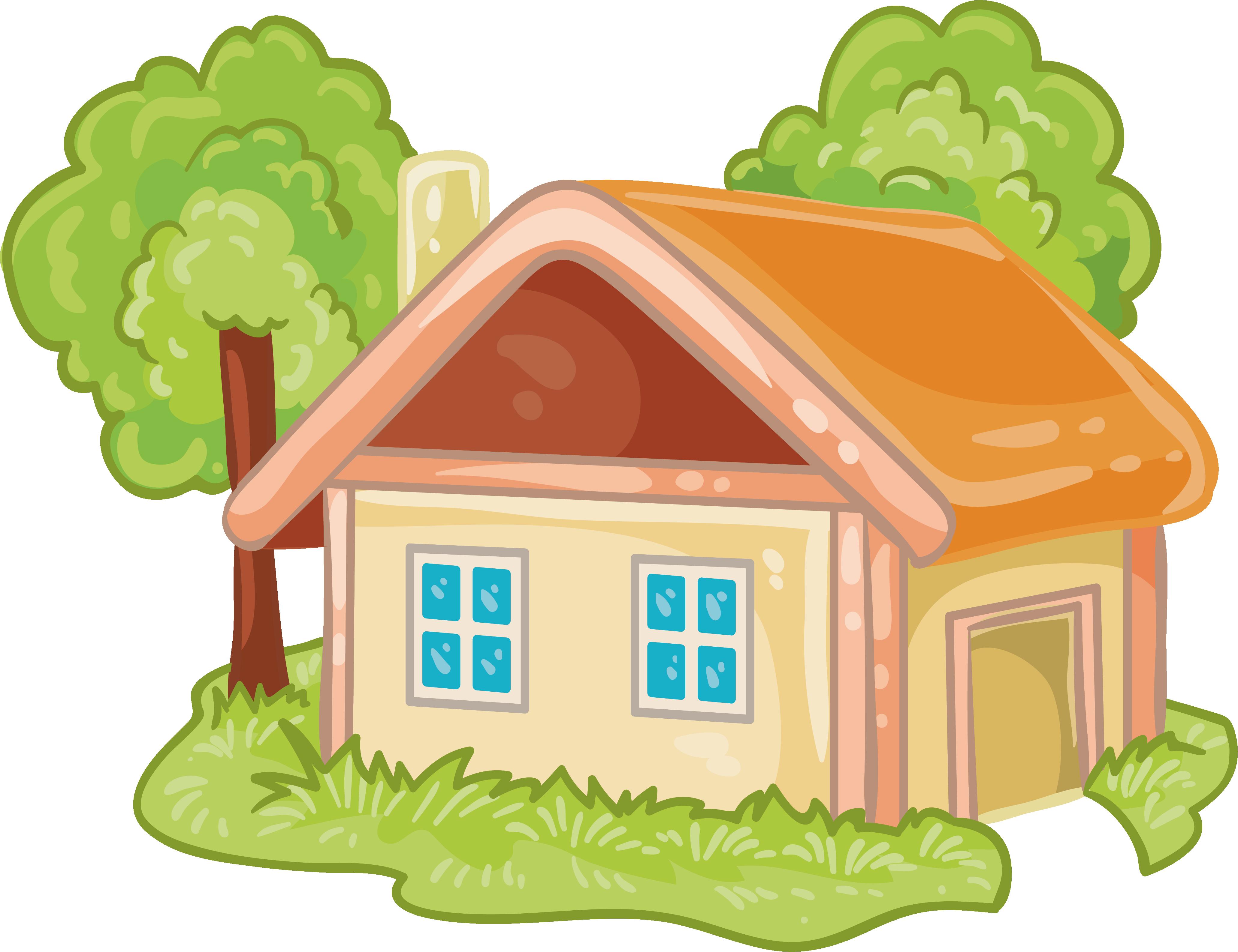 Log cabin transprent free. Cartoon house png
