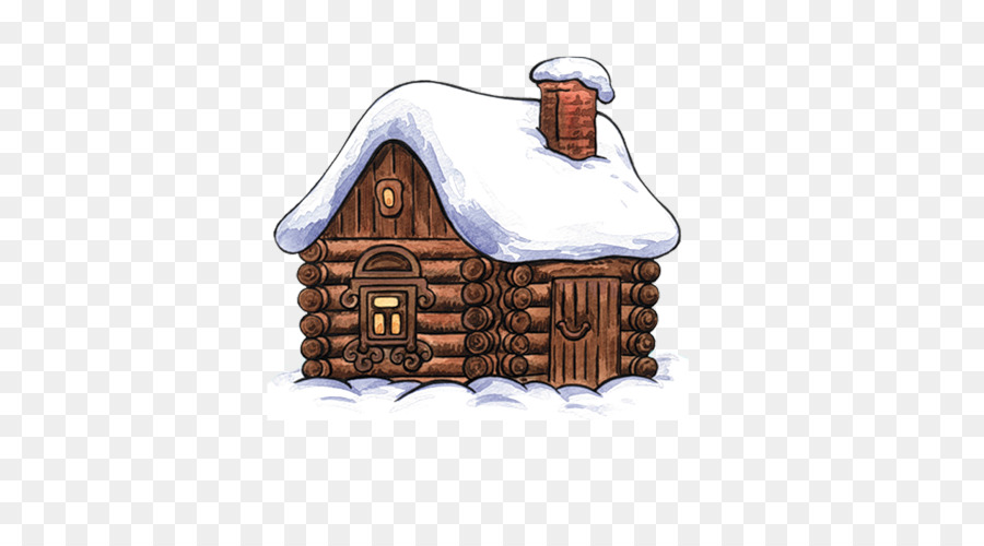 Winter drawing . Cottage clipart many house