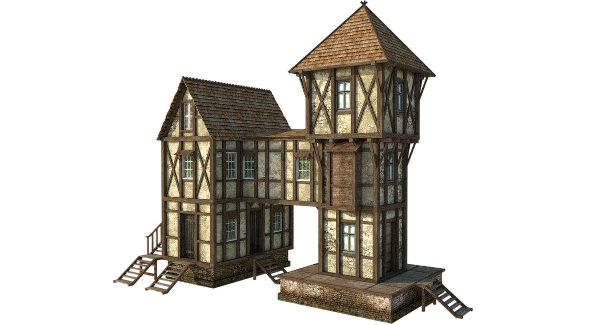 Cottage clipart medieval building. House by fumar porros