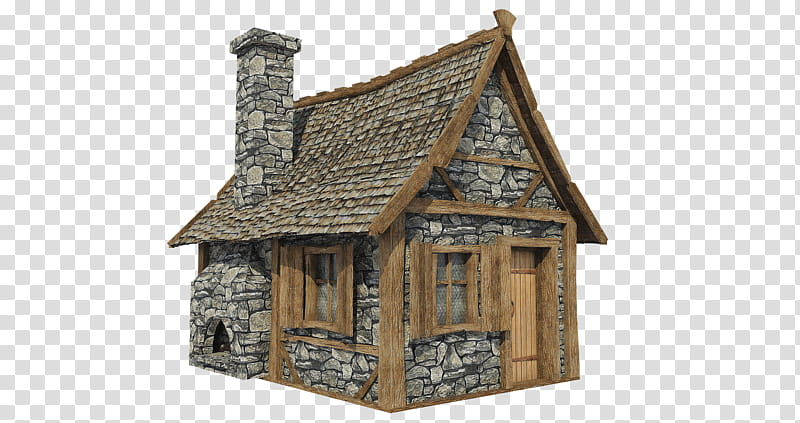 Hut a brown and. Cottage clipart medieval house