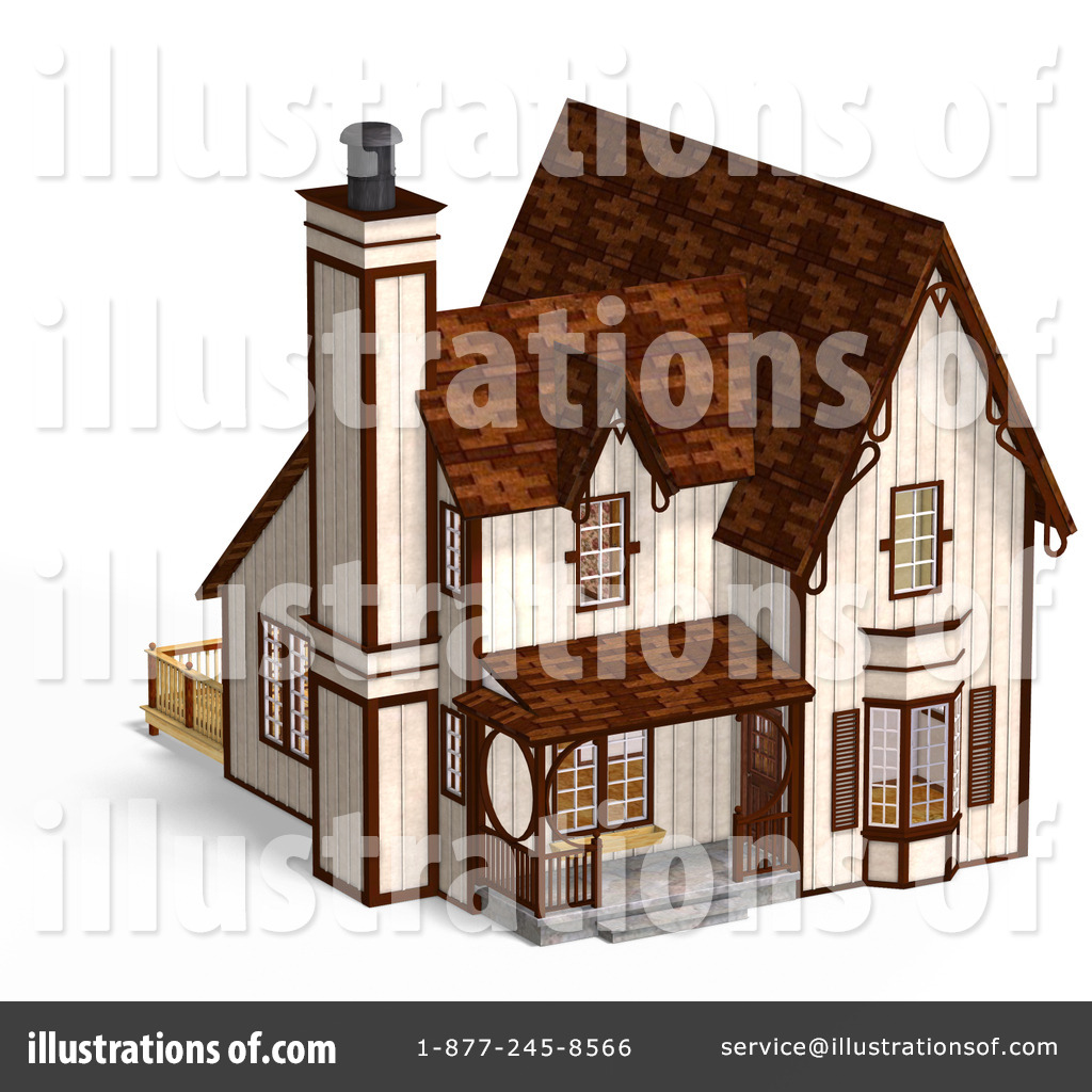 Cottage clipart medieval house. Architecture illustration by ralf