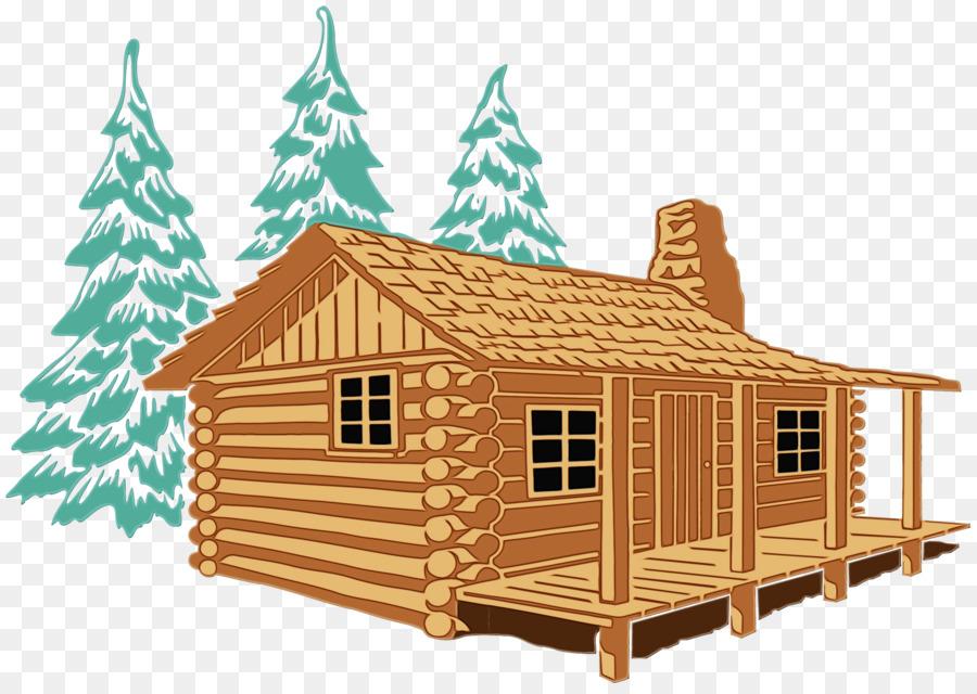 Cottage clipart mountain cabin. Building cartoon