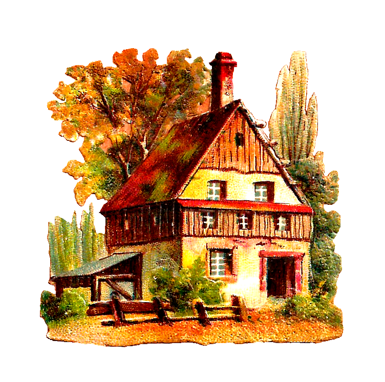 Cottage clipart old fashioned house. Antique png clip art