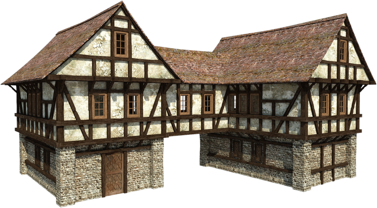 Medieval png by fumar. Cottage clipart old fashioned house