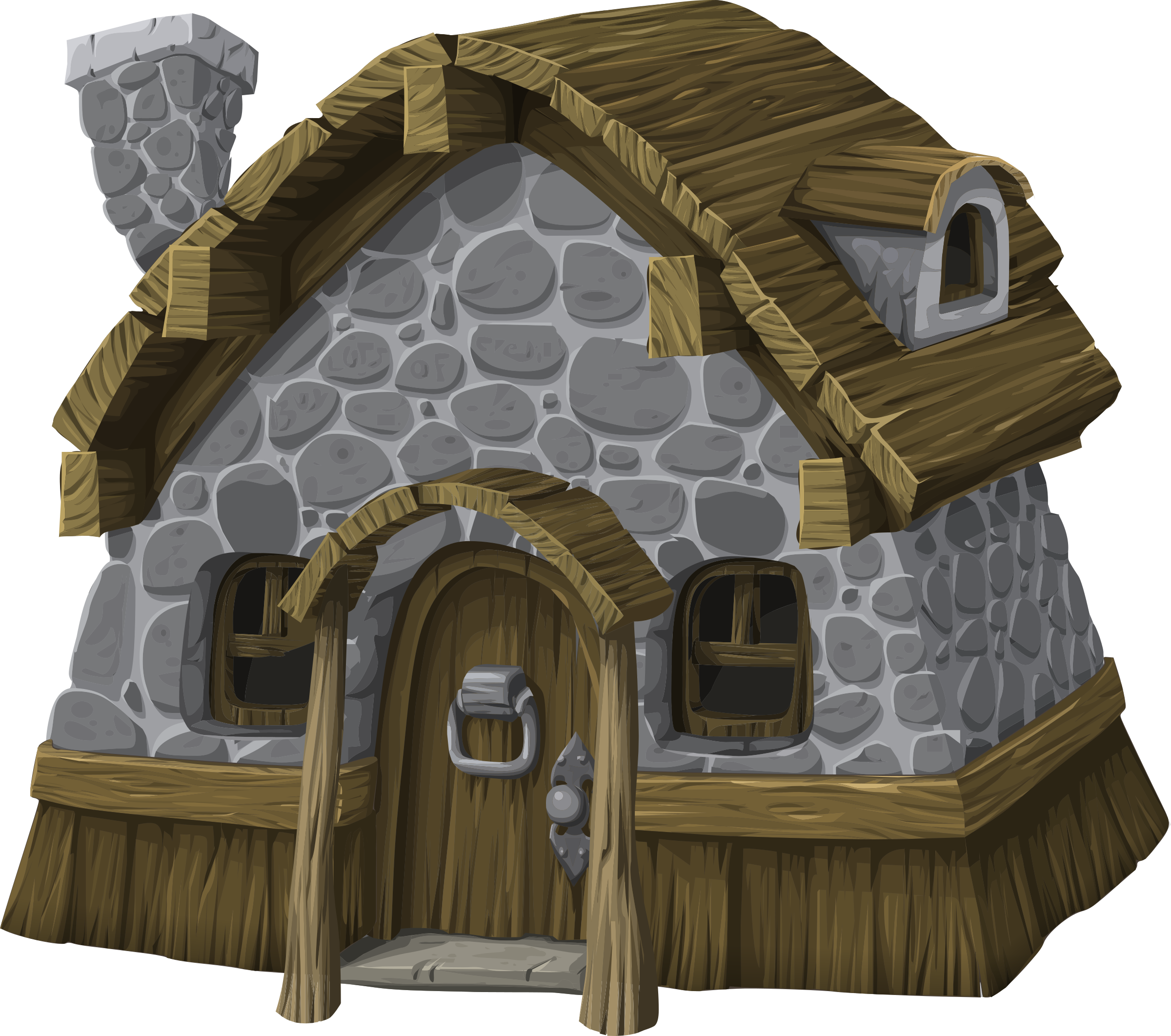Rustic from glitch big. Cottage clipart old fashioned house