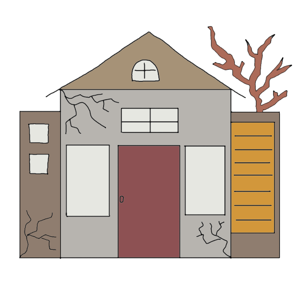 Dreams about an abandoned. Dreaming clipart dream home