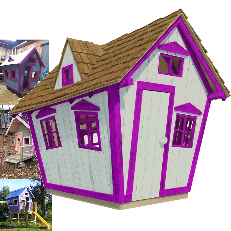 Cottage clipart poor house. Crooked playhouse plans outdoor