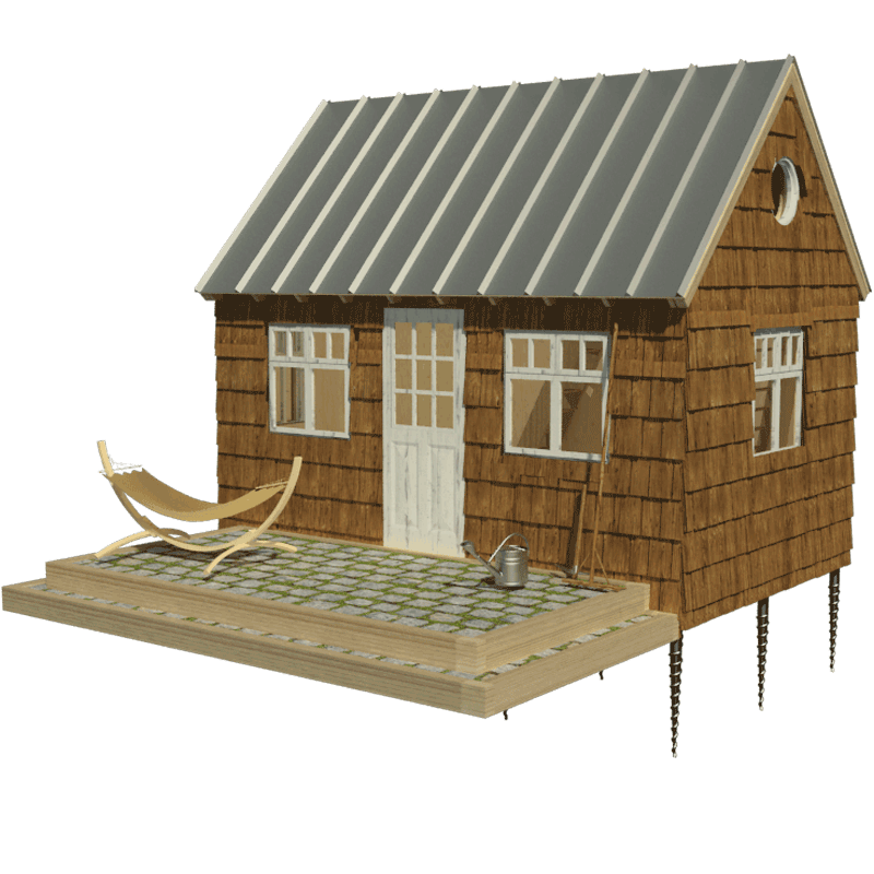 cottage clipart rustic house