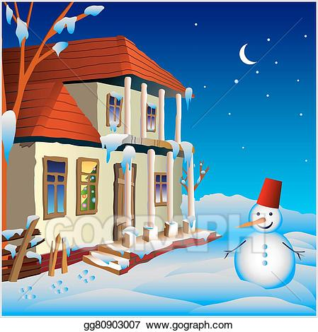 Vector illustration a in. Cottage clipart small cottage