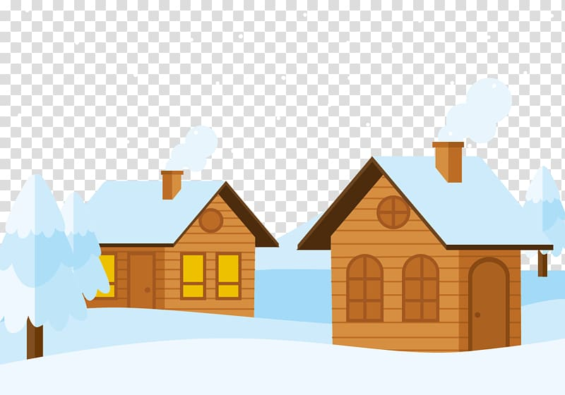 Cottage clipart snowy cabin. Snow log a in