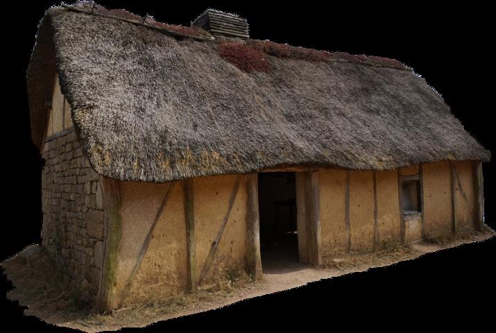 Cottage clipart thatch. House sticker challenge on