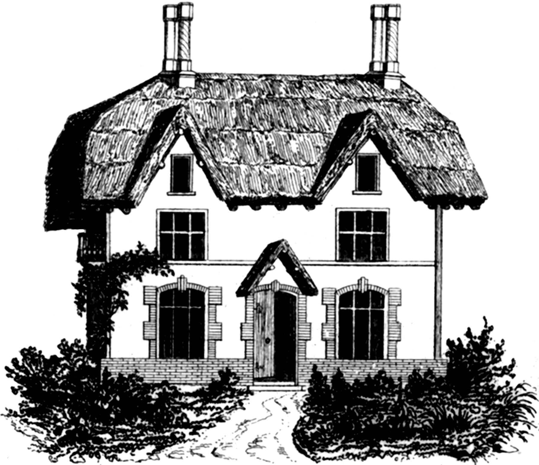 Cottage clipart thatched roof. House image houses and