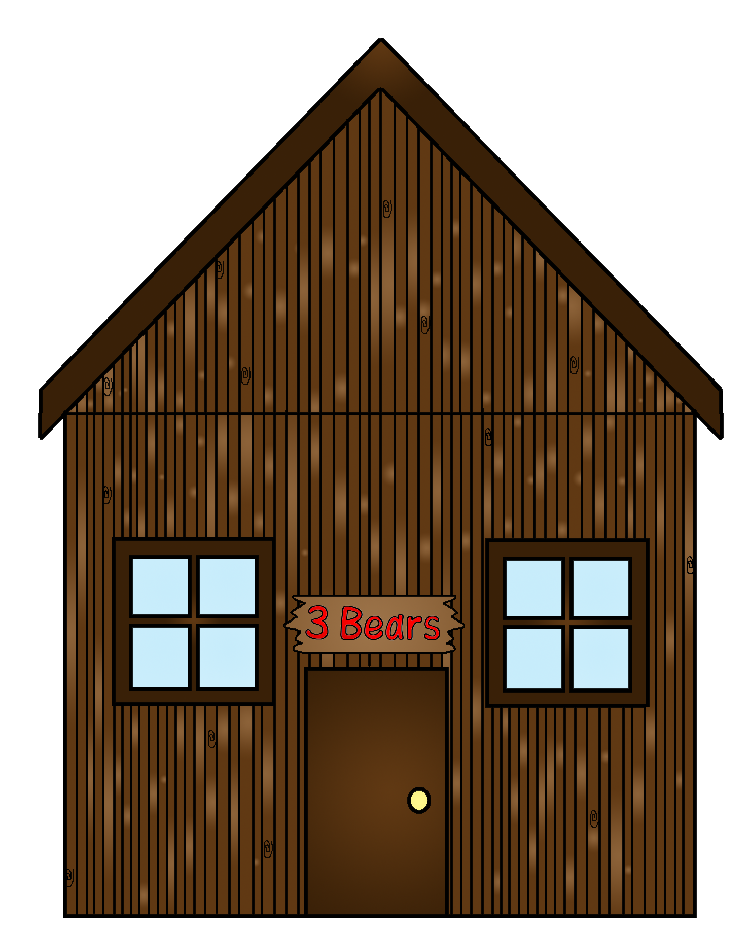 Cottage three bears free. House clipart bear