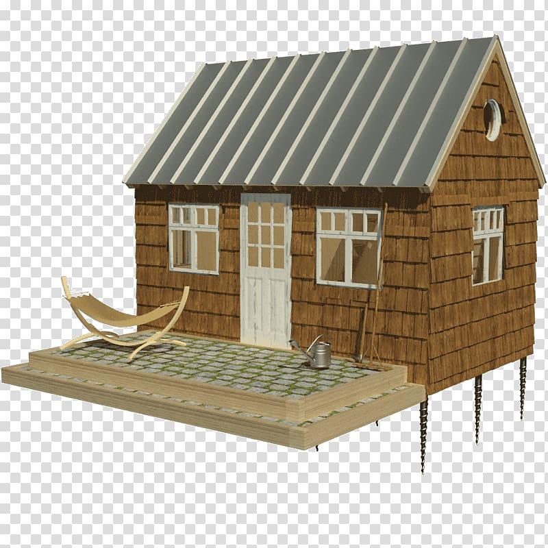 Loft log cabin movement. Cottage clipart tiny house
