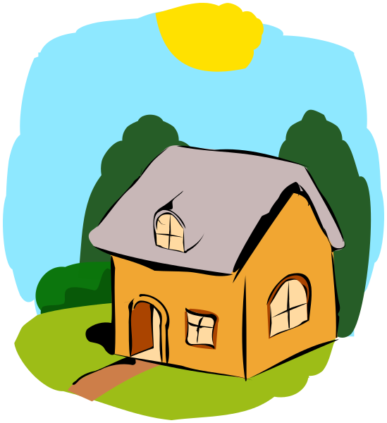 Cottage buildings rural png. House clipart summer