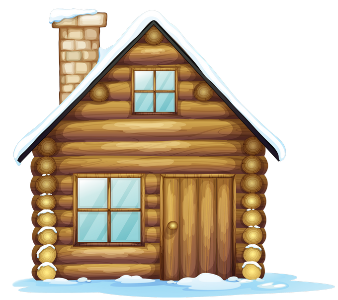 Free brown house cliparts. Cottage clipart vector