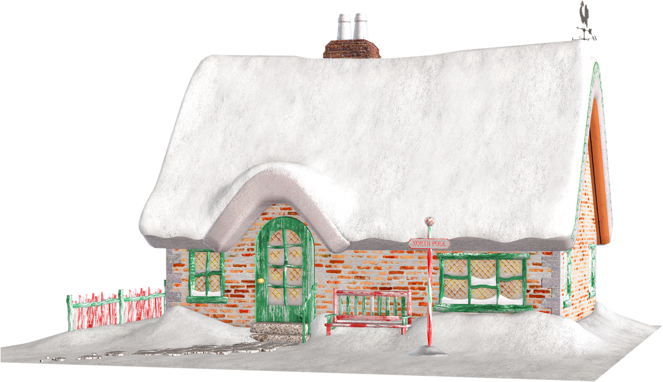 Cottage clipart vector. Santa clipground santas free