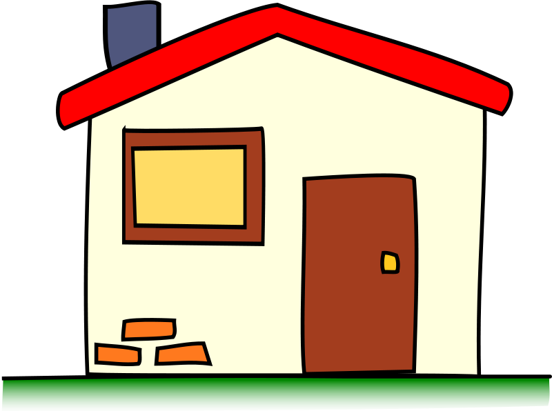 My house pencil and. Cottage clipart vector