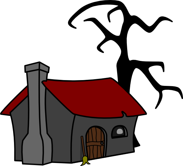 Clip art at clker. Witch clipart cottage