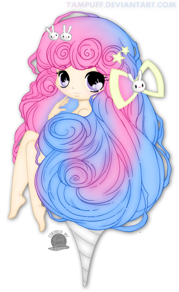 Cotton clipart candy floss. Fairy by blackmoonrose on