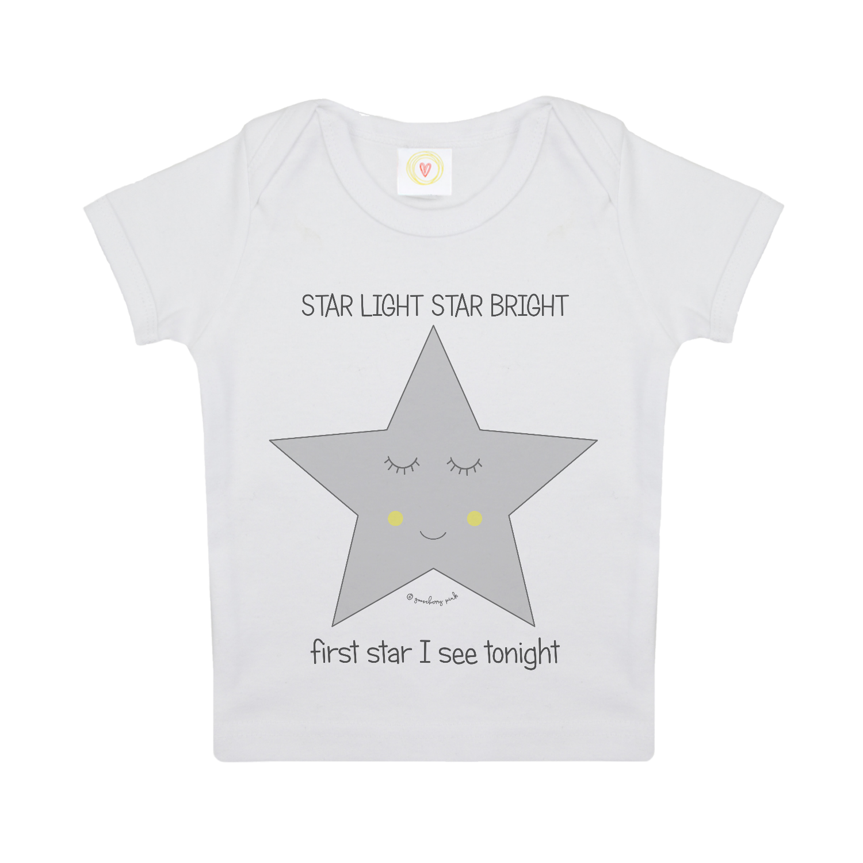 Star baby t shirt. Cotton clipart cotton clothes