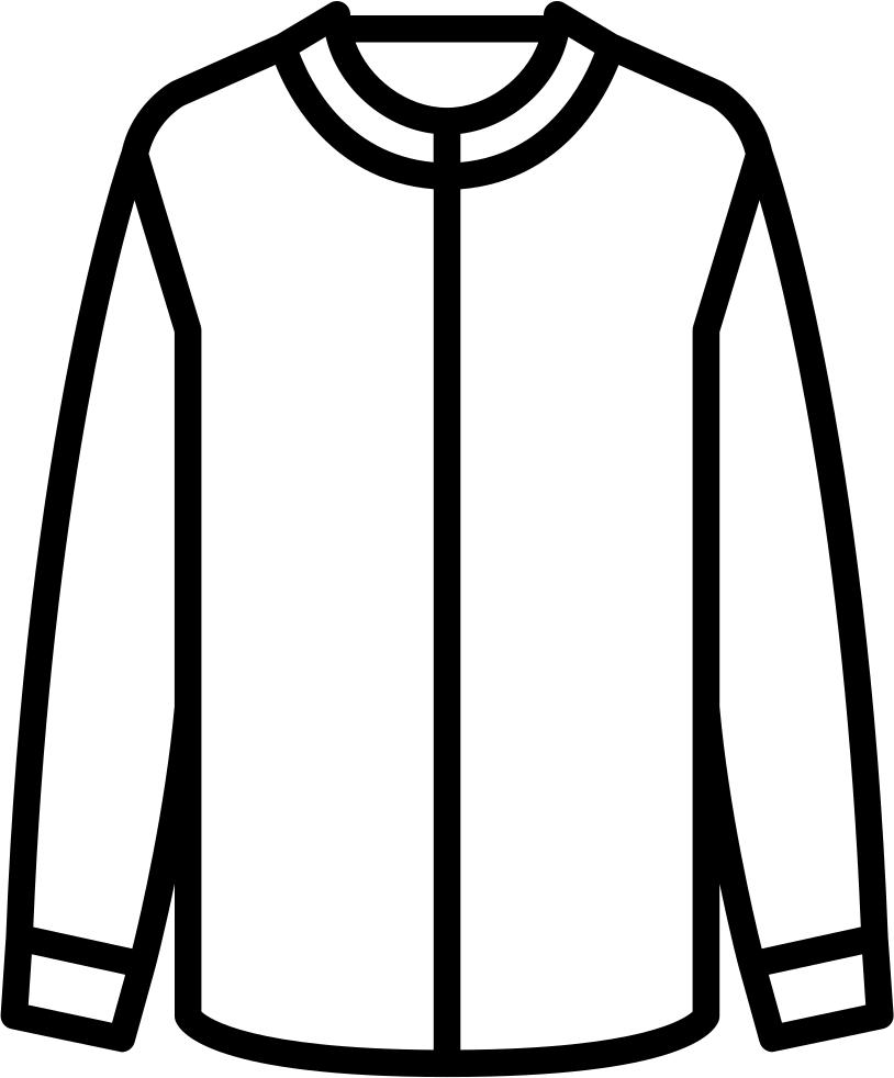 Cotton clipart cotton clothes. Collarless shirt svg png