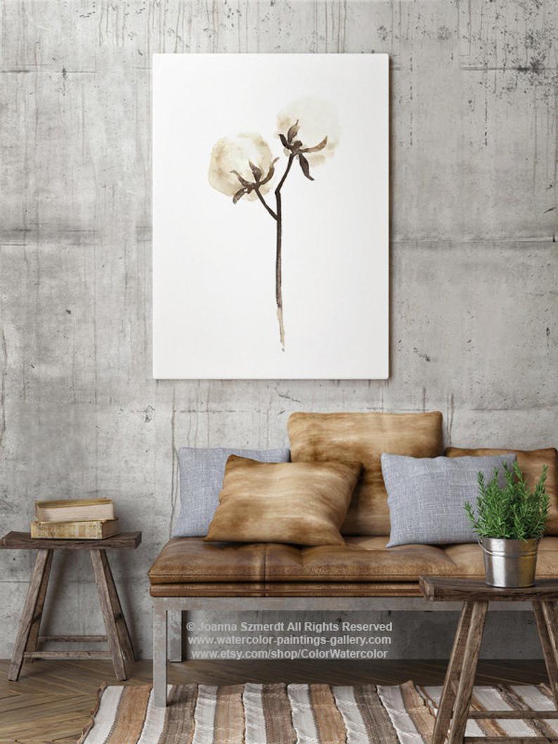 Organic paper clip art. Cotton clipart cotton stem