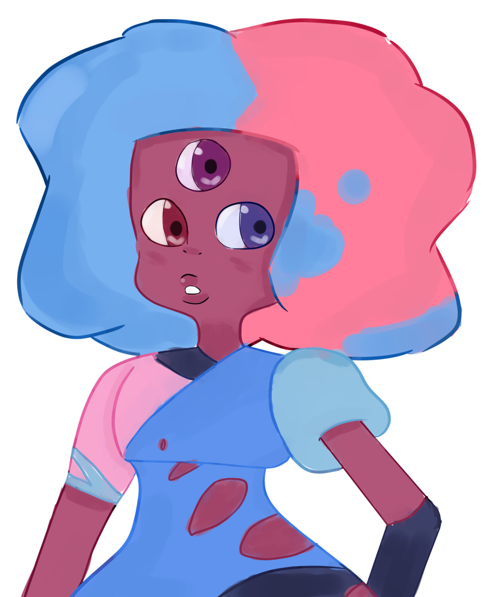 Cotton clipart pink blue cotton candy. Garnet by pixelmiayu on