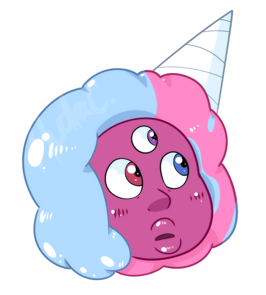 Garnet by itsaaudraw on. Cotton clipart pink blue cotton candy